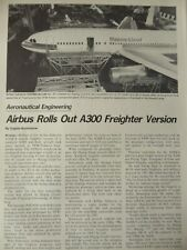 12/1979 ARTICLE + 3 PAGES AIRBUS ROLLS OUT A300 A300C4 FREIGHTER HAPAG-LLOYD
