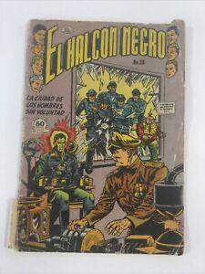 1953 SPANISH COMICS EL HALCON NEGRO #25 BLACKHAWK LA PRENSA MEXICO MEXICAN
