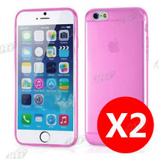 Buy 1 get 1 Free, Ultra Slim Pink iPhone 6 / 6S Gel Case Cover Clear AU