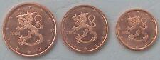 1+2+5 Euro Cent Finnland 2004 unz