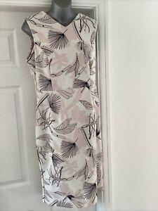Ladies Dress Size 16 Autograph Marks & Spencer Floral Print V Neck