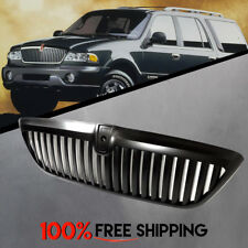 For Lincoln Navigator Front Grill Matte Black Vertical Grille years 98 to 02