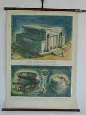 Q7894 Lehrtafel - Lehrmittel - Rollkarte - Der Tempel Salomons