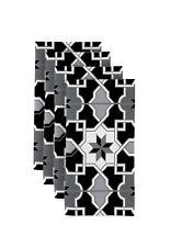 "Black & Gray Mosaic 18"" x 18"" Napkins 1 Dozen"