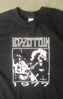 Led Zeppelin 77 jimmy page vintage style t shirt rock legends classic sm-5xlg