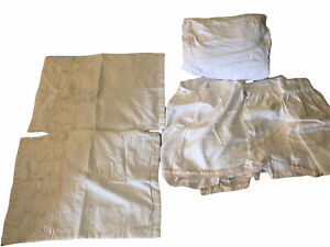 Veratex Queen Duvet Set Ivory White Gold Trim Neutral Bedding Bedskirt 2 Shams