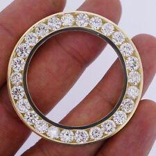 10 Ct Diamond Bezel For Rolex Daydate II 2 41mm President Watch Huge Bezel