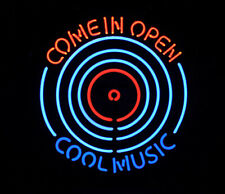 """New Come In Open Cool Music Neon Light Sign 24""""x20"""" Lamp Poster Real Glass"""