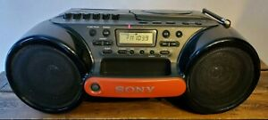 Sony ESP Sports CFD-980 Vintage Water Resistant Radio CD/Cassette Player Boombox