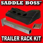 4 Western Saddle Racks Kit by Saddle Boss, for Tack Room, Horse Barn or Trailer
