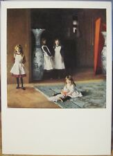 Art Postcard John Singer Sargent DAUGHTERS OF EDWARD BOIT Painting MFA Boston