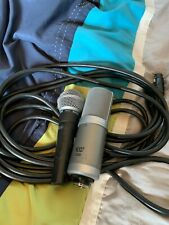 Shure SM58, MXLV250 Used Microphones Bundle with Fender XLR Cable