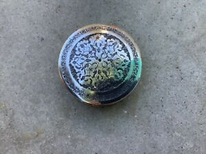 Vintage Persian Qajar Middle Eastern Round Silver Box