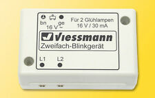 Viessmann 5038 N GAUGE DUAL INDICATOR WITH 2 Yellow Light Bulbs Lamps #