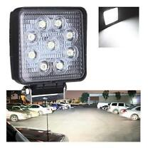 12V 27W Square LED Work Light Flood Truck ATV Boat 4x4 Offroad Light