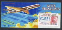 TICKET  ANNÉE 1965   LOTERIE NATIONALE     les ailes Françaises