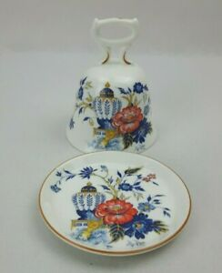 Crown Staffordshire Penang - 10cm Pin Dish / Coaster & Bell - Vintage Excellent