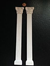 """WP107&109 - 11"""" Fluted Column & Ornate Capital Top A - RepliCast Miniatures Doll"""