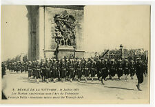 WWI ww1 First World War One 1 AMERICAN MARINES Victory Parade photo postcard