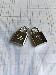 Lot2 zipper pull button Authentic Louise Vuitton  metal 14mm