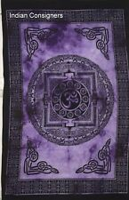 Purple Color Om Chakra Wonderful Design Small Size Tapestry Poster Soft Wash