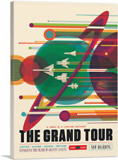 ARTCANVAS The Grand Tour Once In A Lifetime Voyager NASA Poster Canvas Art Print