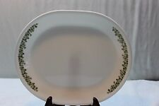 Corelle Crazy Daisy Pattern Platter Minimal Use Green Flowers 12 x 10""