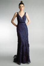 Basix Black label D9480L navy blue long formal gown evening dress BNWT UK10 UK12