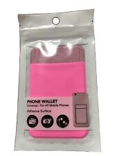 Hot Pink Phone Wallet Universal- For All Mobile Phone