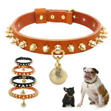 Leather Spiked Studded Dog Collar for German Shepherd French Bulldog Chihuahua