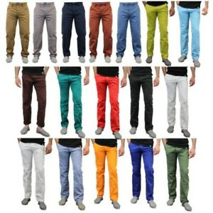 Mens Chino Jeans Huston Harbour Kushiro City Trousers Classic Comfort Fit Summer