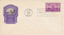 POSTAL HISTORY -1940 FDC IDAHO GOLDEN ANNIVERSARY ISSUE GEM OF THE MOUNTAINS BOI