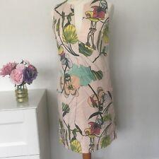 H&M Vestido Talla 10 Rosa Blush | Oficina Inteligente Floral desplazamiento Conscious Collection