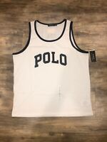 New Polo Ralph Lauren USA Flag White Tank Top T Shirt  XXL Polo Spell Out 2XL