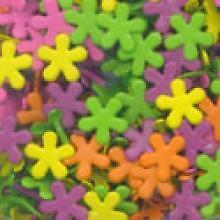 Sherbet Funky Flower Brads Mix 12mm More in my Store