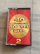 MUSIC CASSETTE . READERS DIGEST .. 40 YEARS OF THE TOP TEN HITS - 2