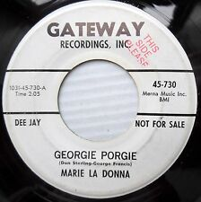 MARIE LA DONNA teen bopper white label PROMO Gateway 45 GEORGIE PORGIE  F2440