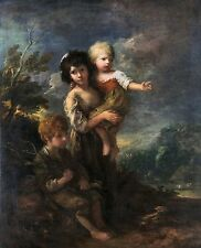 Cottage Children 1787 by Thomas Gainsborough Old Masters 13x16  Art Print