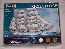 Maquette REVELL 1/253ème GORCH FOCK avec peinture, colle et pinceau
