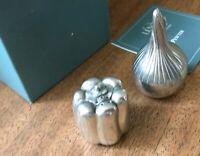Lenox Kirk Stieff Pewter Salt & Pepper Onion & Pepper Made In USA Shaker