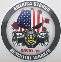 """America Strong Essential Worker 5"""" Tool Box/Window Decal 2 Pack"""