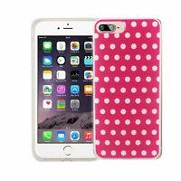 Téléphone Housse Pour Apple IPHONE 7 Plus Polka Dot Rose Sac Étui Motif Étui Fin