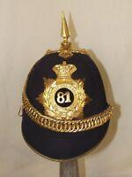 Victorian 81st Loyal Lincoln Volunteers Regiment Officer's Black Cloth Helmet