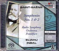 SACD Eliahu INBAL: SAINT-SAENS Symphony No.1 2 Sinfonie Frankfurt Super Audio CD