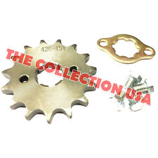 New #428 Chain Front Pinion Sprocket With 15 Teeth For Atv, Dirt Bike, Go Karts