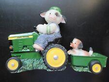"Mary Moo ""I'd Go Anywhere with Moo"" John Deere 1999 Boy Dog Tractor Wagon"