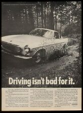 "1968 Volvo 1800S 1800 S car photo ""Driving isn't bad for it"" vintage print ad"