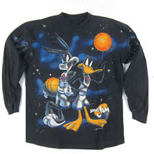 Vintage Space Jam 1996 movie long sleeve t-shirt Bugs Daffy Duck Jordan XI Nike