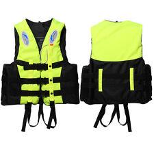 Universal Swimming Boating Ski Polyester Adult Life Jacket Vest+Whistle M Yellow