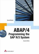 ABAP/4, Second Edition: Programming the SAP(R) R/3(R) System (2nd Edition)